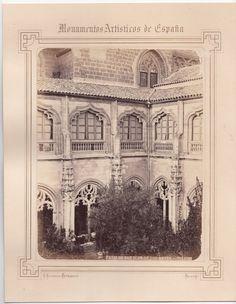 1870 C.A C. ALGUACIL PATIO DE SAN JUAN DE LOS REYES TOLEDO  PHOTO ALBUMINA -AL1