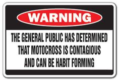 Motocross Is Contagious Warning Sign Dirt Dirty Funny Bike Racing Helmet Gift | eBay