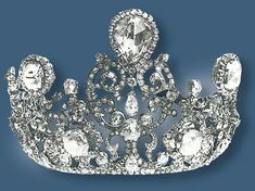 Stuart Tiara - part of the Crown Jewels of the Netherlands containing 900 diamond, the largest being the 39+ carat Stuart Diamond, dating to the 1690s