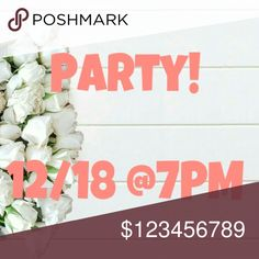 🎉Co-Hosting my first Posh Party!🎉 I'm so excited to be co-hosting my first Posh Party 12/18 @7pm! Theme will be announced closer to the date. I'll be choosing Host Picks from Posh compliant closets only, especially newer closets. Like and Share this listing and tag yourself and PFFs closets below. Thanks for helping me spread the word, see you there! 😍 Anthropologie Other