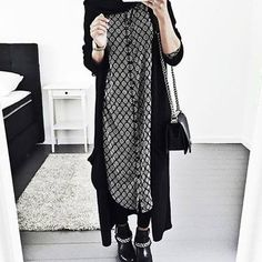 Je m'en lasse pas de ces gilets extra longs ! <3 #Hijab
