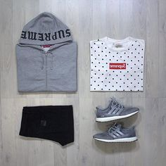 WEBSTA @ hyenaseverywhere - Today's outfitgrid:Hoodie: Supreme Zip Up…