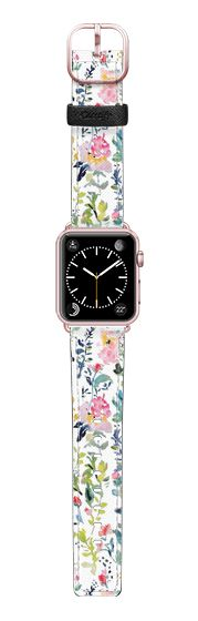 Casetify Apple Watch Band (38mm) Saffiano Leather Watch Band - Pink Medley Band by Pineapple Bay Studio