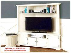 Armoire tv cabinet corner tv cabinets for flat screens with doors woodworki Corner Media Cabinet, Corner Tv Cabinets, Wall Cabinets, Corner Tv Stands, Corner Tv Unit, Corner Wall, Small Corner, Fresh Living Room, Living Tv