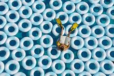 Pool and Rubber Rings Creative Photography