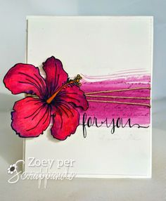 A flower card by Zoey