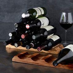 Olivewood Pyramid Wine Rack #williamssonoma