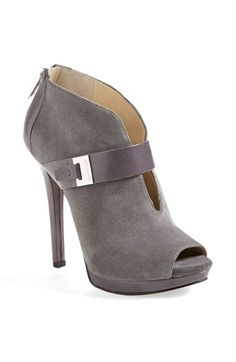 Free shipping and returns on MICHAEL Michael Kors 'Guiliana' Peep Toe Bootie (Women) at Nordstrom.com. Logo-embossed hardware lends signature polish to a shapely platform bootie designed with an alluring V-cut vamp and a peekaboo open toe.