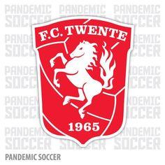 FC Twente of Holland crest. Soccer Logo, Sports Logo, Football Soccer, Soccer Teams, Logo Horse, Radler Bier, Jersey Atletico Madrid, Car Bumper Stickers, Stickers
