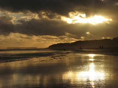 The beach at sunset, Necochea, Argentina