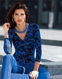Wildlife ist Trend: Das modische Leodessin in edler Farbkombination macht das Jersey-Shirt zum wirkungsvoller Blickfänger im souveränen Kombi-Spiel.