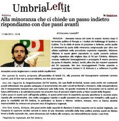 """Leonelli: """"Alla minoranza che ci chiede un passo indietro rispondiamo con due passi avanti"""" / da UmbriaLeft.it"""