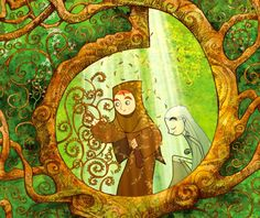 Watching: The Secret of Kells // easily the most beautiful animated movie I've ever seen.