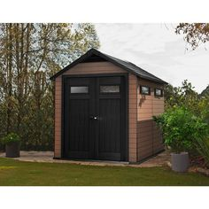 Found it at Wayfair - Fusion 7.5 Ft. W x 9.4 Ft. D Plastic Storage Shed
