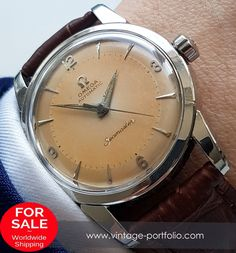 Serviced Genuine Omega Seamaster Automatic in Steel - with pink patina! #omegaseamaster #seamaster #omega #omegawatches #omegavintage