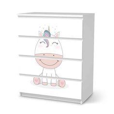 """Nichts ist kostbarer als ein Lächeln unserer Kleinen ❤ Mit unserem """"Baby Unicorn"""" fangen kleine Prinzessinnen an zu Träumen. Ikea Inspiration, Ikea Kallax Regal, Pink, Baby, Collection, Products, Drawer Design, Ikea Malm Dresser, White Wardrobe"""