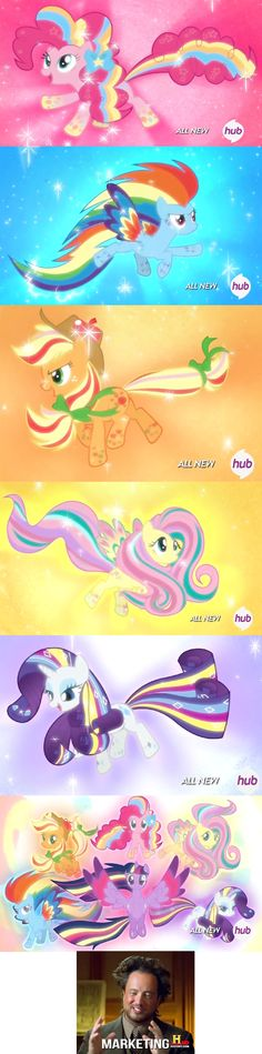 Pinned for good images of the rainbow powered ponies