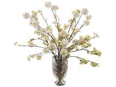 John Richard Transitional Cherry Blossoms Decorative Floral Arrangement