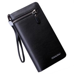 2017 new arrival leather men long wallets famous brand wallet quality fashion zipper hasp clutch multifuctional business purse
