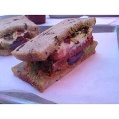 """The Farmer"" veggie sandwich @ Daily Dose."