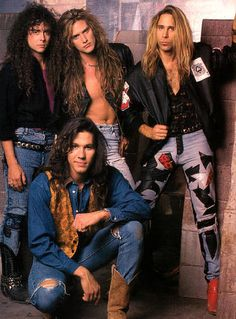 Slaughter is an American hard rock band formed in Las Vegas, Nevada by lead vocalist/rhythm guitarist Mark Slaughter and bassist Dana Strum. Big Hair Bands, Hair Metal Bands, Glam Metal, 80s Music, Rock Music, Slaughter Band, 80s Hair Metal, 80s Rock Bands, Vinnie Vincent