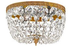 jeweled ceiling fixture