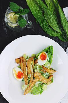La mythique #salade #césar ! On ne s'en lasse jamais ;)  #été #summer #gastronomie #recette #summer #healthy #food #foodporn #gourmandise