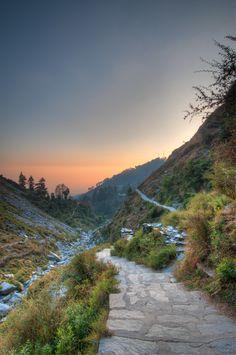 Dusk from Bhagsu Naag Pathway, Dharamsala, Himachal Pradesh India