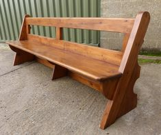 Bexhill Open Back Bench / Church Pew - Top trade supplier of Antique Ecclesiastical Furnishings, furniture, fixtures and fittings in Great Britain.