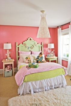 Add whimsy to vintage furniture with a coat of paint in a kid-friendly color.