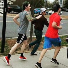 When you're that third person on the sidewalk and you have to run to catch up