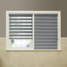 Aurora Home Premium Fabric Light Sunshut Duo Blackout Window Shade