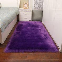 #LaminateHardwoodFlooring Purple Bedroom Decor, Room Ideas Bedroom, Rooms Home Decor, Living Room Bedroom, Rugs In Living Room, Room Rugs, Purple Room Decorations, Dark Purple Bedrooms, Plum Bedroom