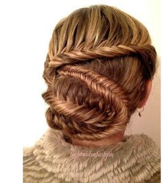Started with a fishtail lace braid and this happened!