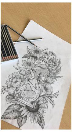 Half Sleeve Tattoo Upper Arm, Thigh Sleeve Tattoo, Upper Thigh Tattoos, Unique Half Sleeve Tattoos, Tattoo Arm Frau, Back Of Leg Tattoos, Half Sleeve Tattoos Drawings, Quarter Sleeve Tattoos, Shoulder Tattoos