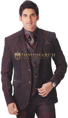Mens Brown 7 pc Polyester Tuxedo Unique Look Brown Tuxedo, Tuxedo Suit, Dark Brown Color, Pj, Blazer, Pure Products, Suits, Unique, Jackets