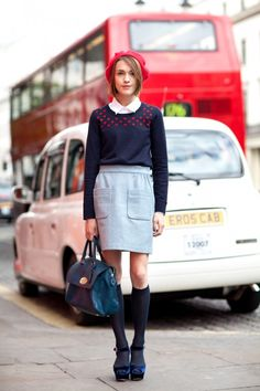 Oh to be able to wear this skirt, and this jumper, and this beret, and not look like a twit