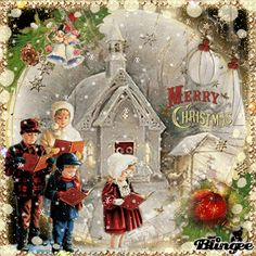 •❤Merry Christmas!•❤ Merry Christmas Pictures, Old Time Christmas, Vintage Christmas Images, Christmas Scenes, Vintage Holiday, Christmas Carol, Christmas Wishes, Christmas Greetings, Winter Christmas