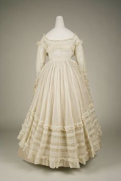 1863 French dress made of Cotton...from the MET