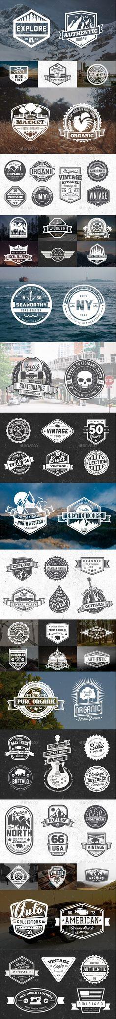 65 Vintage Badges and Logos Bundle #design Download: http://graphicriver.net/item/65-vintage-badges-and-logos-bundle/11118584?ref=ksioks