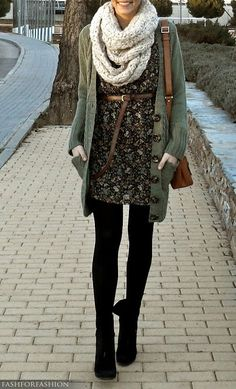 Dress sweater scarf-love layers