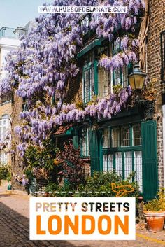 This list of the prettiest streets in London and covers some of the loveliest roads to take a walk through at sunset and sunrise. Scotland Travel Guide, Europe Travel Guide, Ireland Travel, Travel Guides, Travel Destinations, Travel Plan, Travel Advice, Travel Tips, Travel Around The World