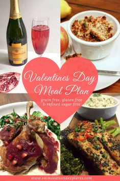 A Valentine's Day menu that's completely Grainfree, Glutenfree and Refined Sugarfree but still incredibly tasty? Suitable for Paleo, Low Carb & SCD diets!