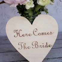 $15.99 Here Comes the Bride Engraved Wood Sign