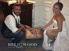 Testimonial by Melissa & Curtis English - I have not only received an amazing Relic Wood box, but I also have given one as a gift.  My husband and I received one for our wedding gift and it was absolutely amazing, well crafted and such a unique and awesome idea.  We love the picture that was on it and now keep all our wedding keepsakes in the box.  We get compliments all the time.