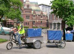 recycling bike bicycle green business commercial cycling trailer delivery collection