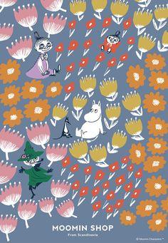 Moomin Wallpaper, Pattern Wallpaper, Iphone Wallpaper, Little My Moomin, Moomin Valley, Tove Jansson, Pretty Wallpapers, Easy Drawings, Comic