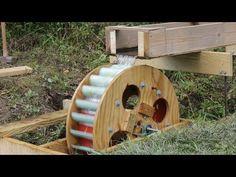 Waterwheel Microhydro P5, Waterwheel Installation - YouTube Solar Energy Panels, Best Solar Panels, Solar Energy System, Solar Power, Water Wheel Generator, Diy Generator, Hydroelectric Power, Solar Heater, Solar Installation