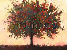 Abstract Apple Tree Painting at ArtistRising.com