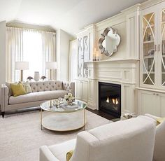 Amazing Gorgeous Built In Cabinets Flanking The Fireplace Nice Design